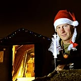 Prince Harry sported a Santa hat while sitting outside a military camp's tent in Afghanistan ahead of Christmas Day in 2012.