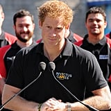 Prince Harry attended a photocall for the Invictus Games in London on Wednesday.