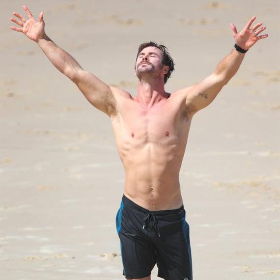 Chris Hemsworth Shirtless Pictures in Australia April 2018