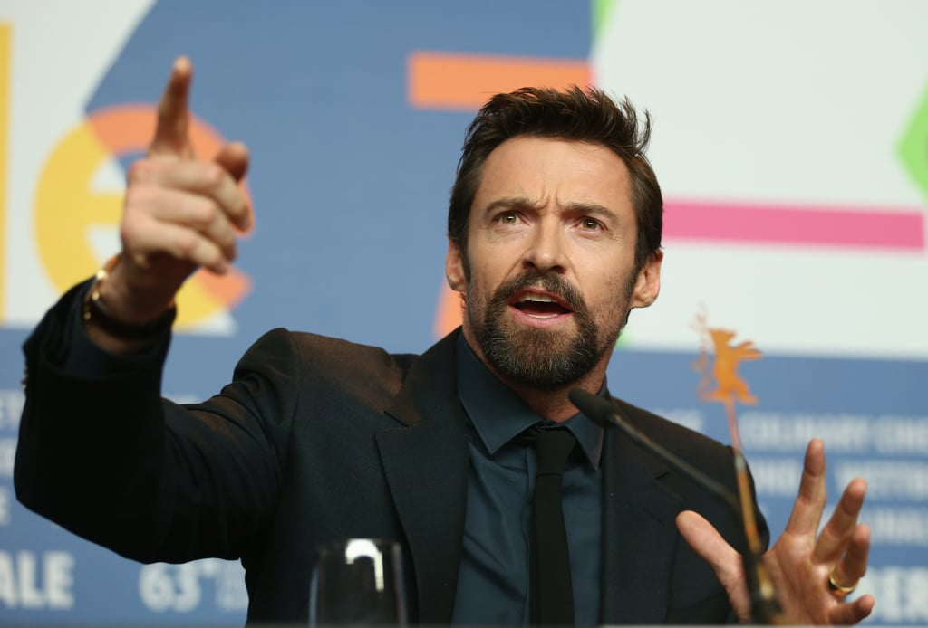 Hugh Jackman got animated during the Berlin International Film Festival.