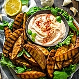 Grilled Potato Wedge Fries With Roasted Garlic Aioli