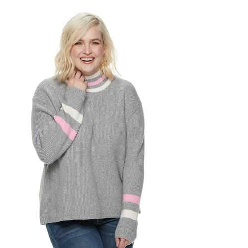 e47ede13fcc POPSUGAR at Kohl s Collection Striped Mockneck Sweater