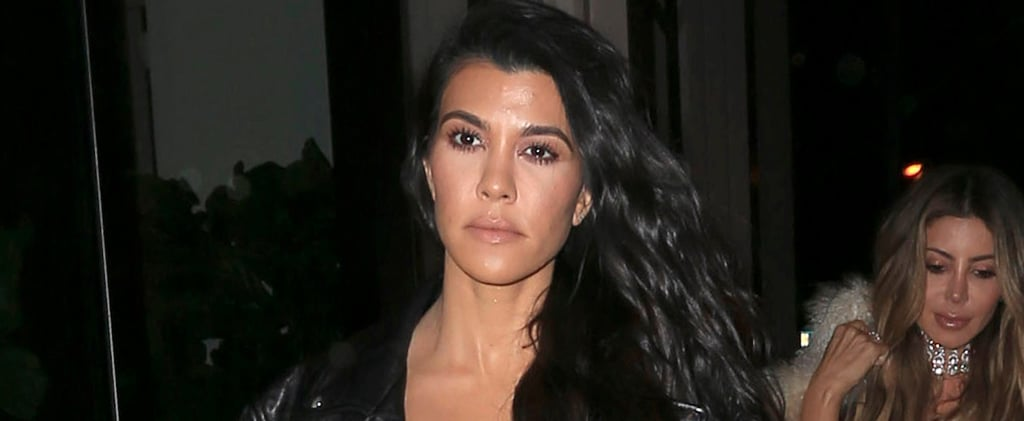 Kourtney Kardashian's Monogrammed Sandals Will Make You Do a Double Take