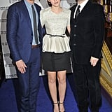 Emma Watson, Eddie Redmayne, and Kenneth Branagh at the UK premiere of My Week With Marilyn.