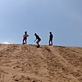 Sandboard in the Desert
