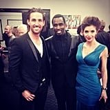 Jake Owen linked up with Diddy backstage at the CMAs. Source: Twitter user jakeowen