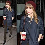 Steal Taylor Swift's quintessential casual Winter look.
