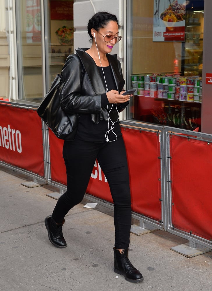 Tracee Ellis Ross How To Wear A Leather Jacket And Jeans
