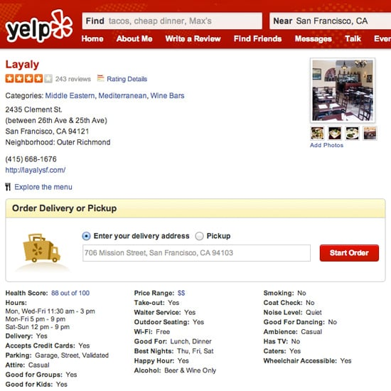 Yelp Delivery
