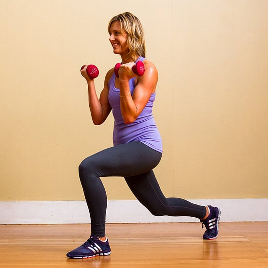 Walking Lunge With Bicep Curl