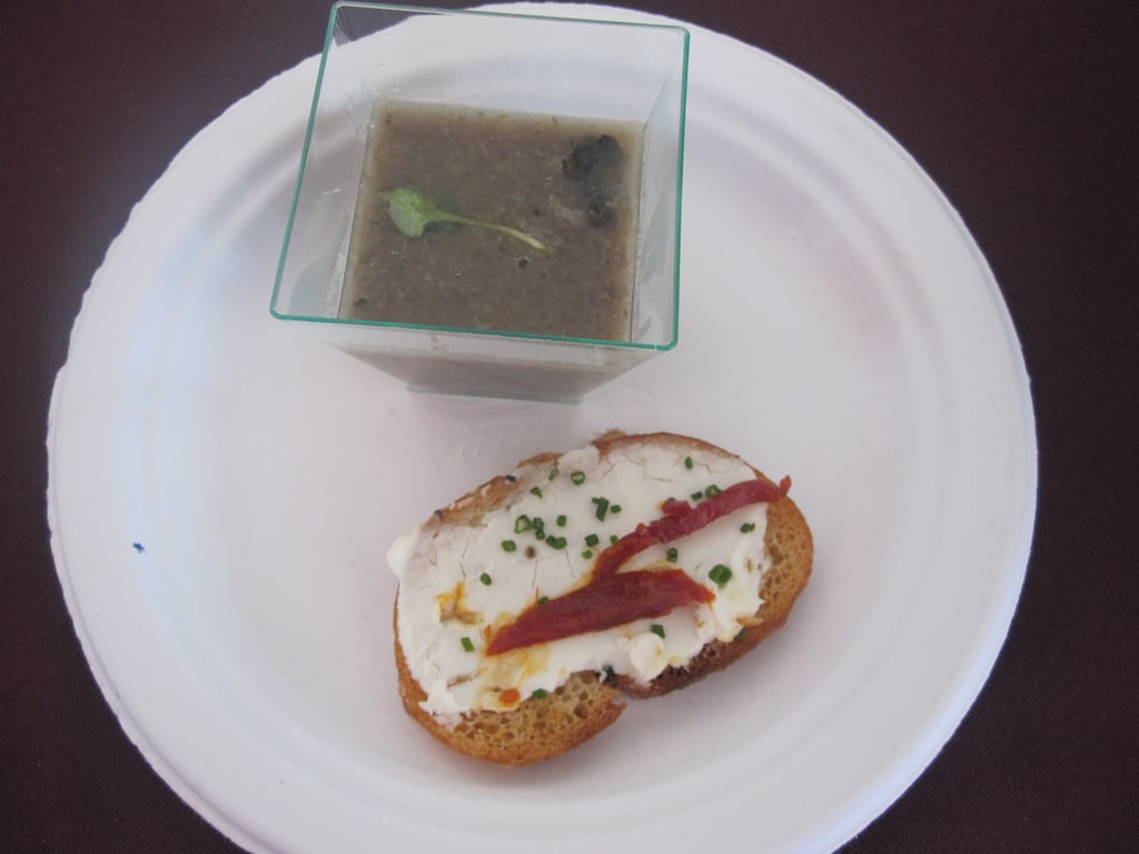 Since a friend tweeted about this mushroom soup with goat cheese crostini, I knew it was bound to be great. The soup was smoky and earthy and it paired delightfully with the crisp toast.