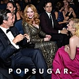 Jon Hamm, Christina Hendricks, and Elisabeth Moss