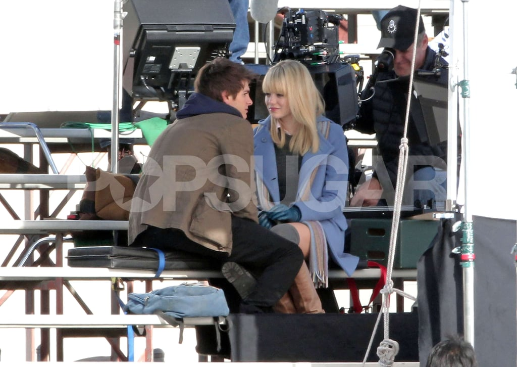 First Pics: Andrew Garfield as Peter Parker Kissing Emma Stone on Spider-Man Set