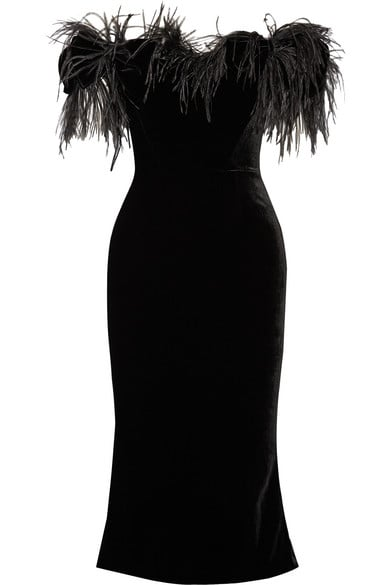 Marchesa Feather Dress