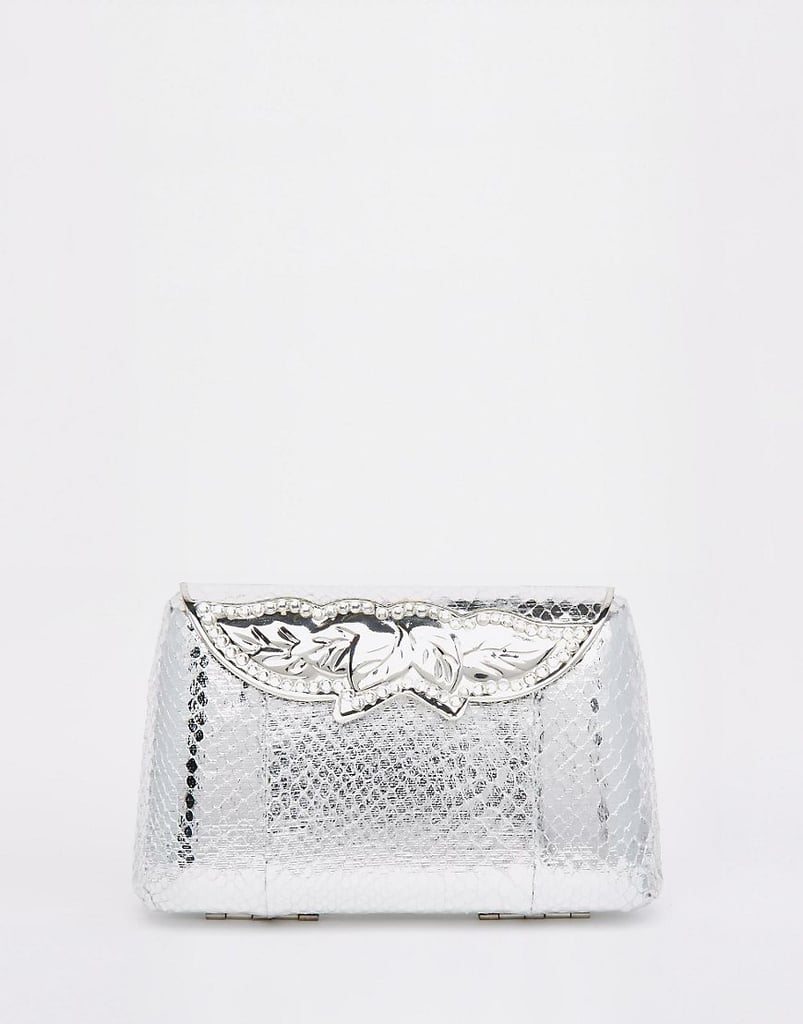 Asos Bridal Box Clutch Bag With Jeweled Clasp ($76)
