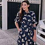 Gal Meets Glam Collection Hayden Floral Crop Stretch Cotton Jumpsuit