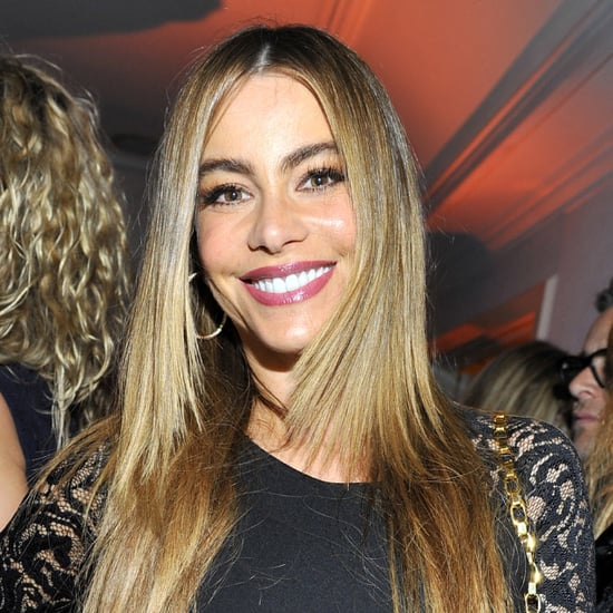 Sofia Vergara in Purple Lipstick Trend