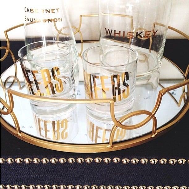 The find: a golden bar set.