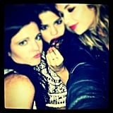 Ashley Benson and Selena Gomez got a little goofy together. Source: Instagram user selenagomez