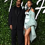 A$AP Rocky and Rihanna at the 2019 British Fashion Awards