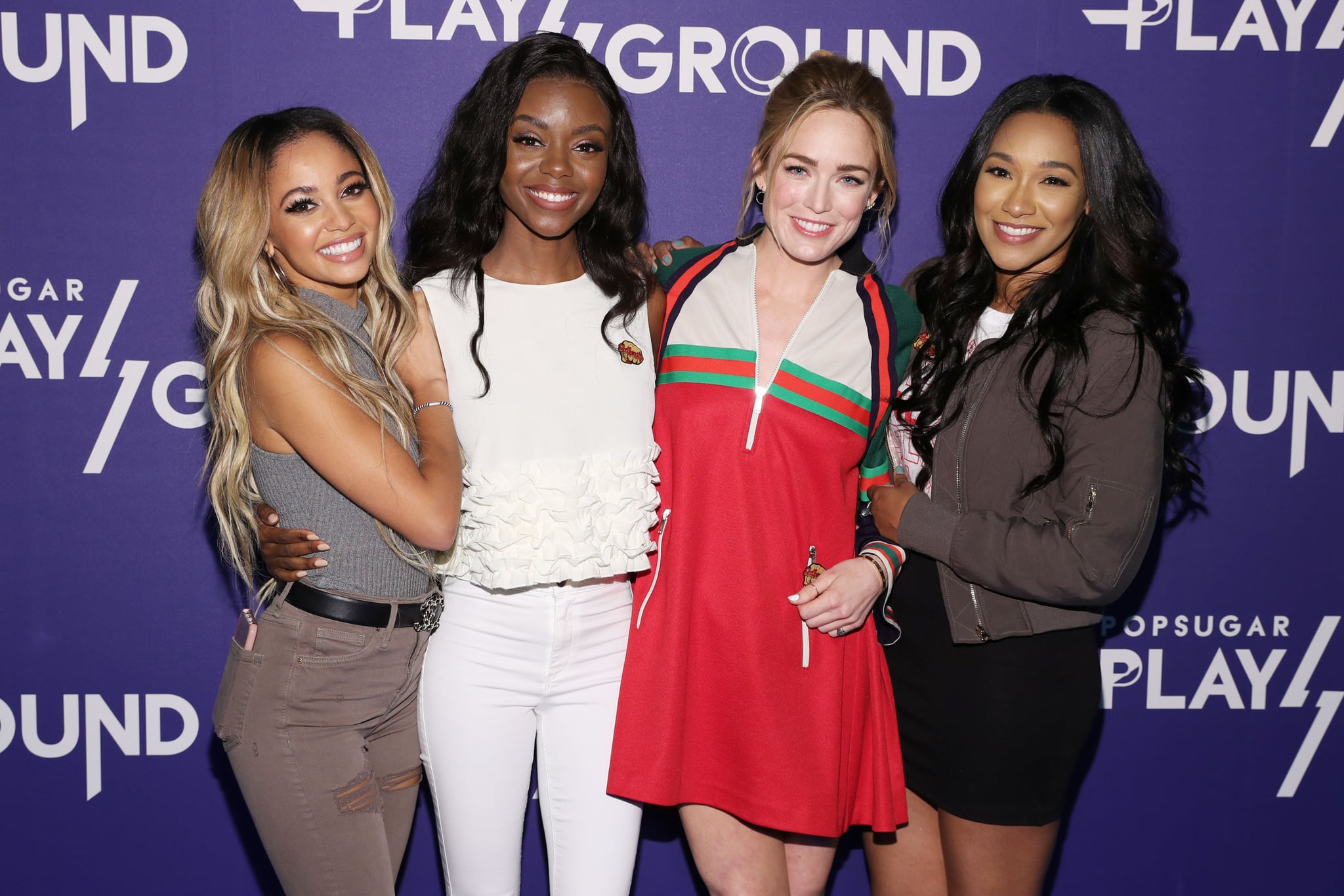 NEW YORK, NY - JUNE 10:  (L-R) Actresses Vanessa Morgan, Ashleigh Murray, Caity Lotz, and Candice Patton attend day 2 of POPSUGAR Play/Ground on June 10, 2018 in New York City.  (Photo by Cindy Ord/Getty Images for POPSUGAR Play/Ground)