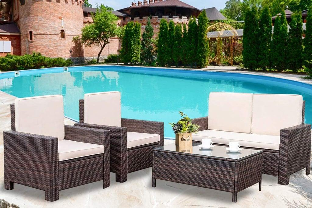Patio Furniture Set 4 Pieces Outdoor Conversation Set