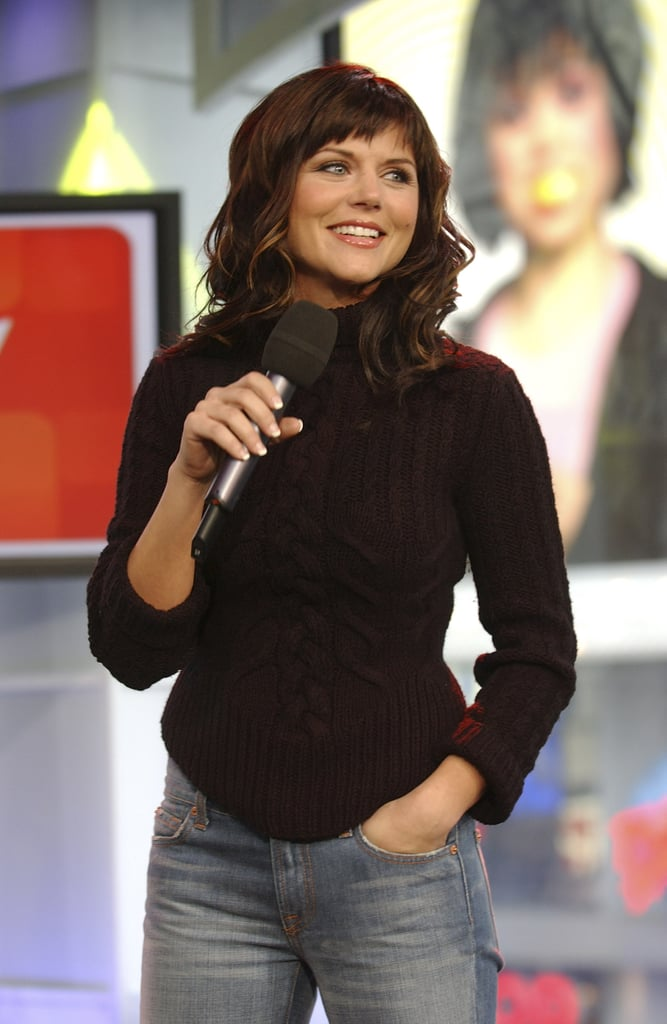 Tiffani Thiessen Stopped By Trl In 2003 Mtv Trl