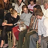 In September 2002, Jaime King and Natalie Portman cheered on Zac Posen in NYC.