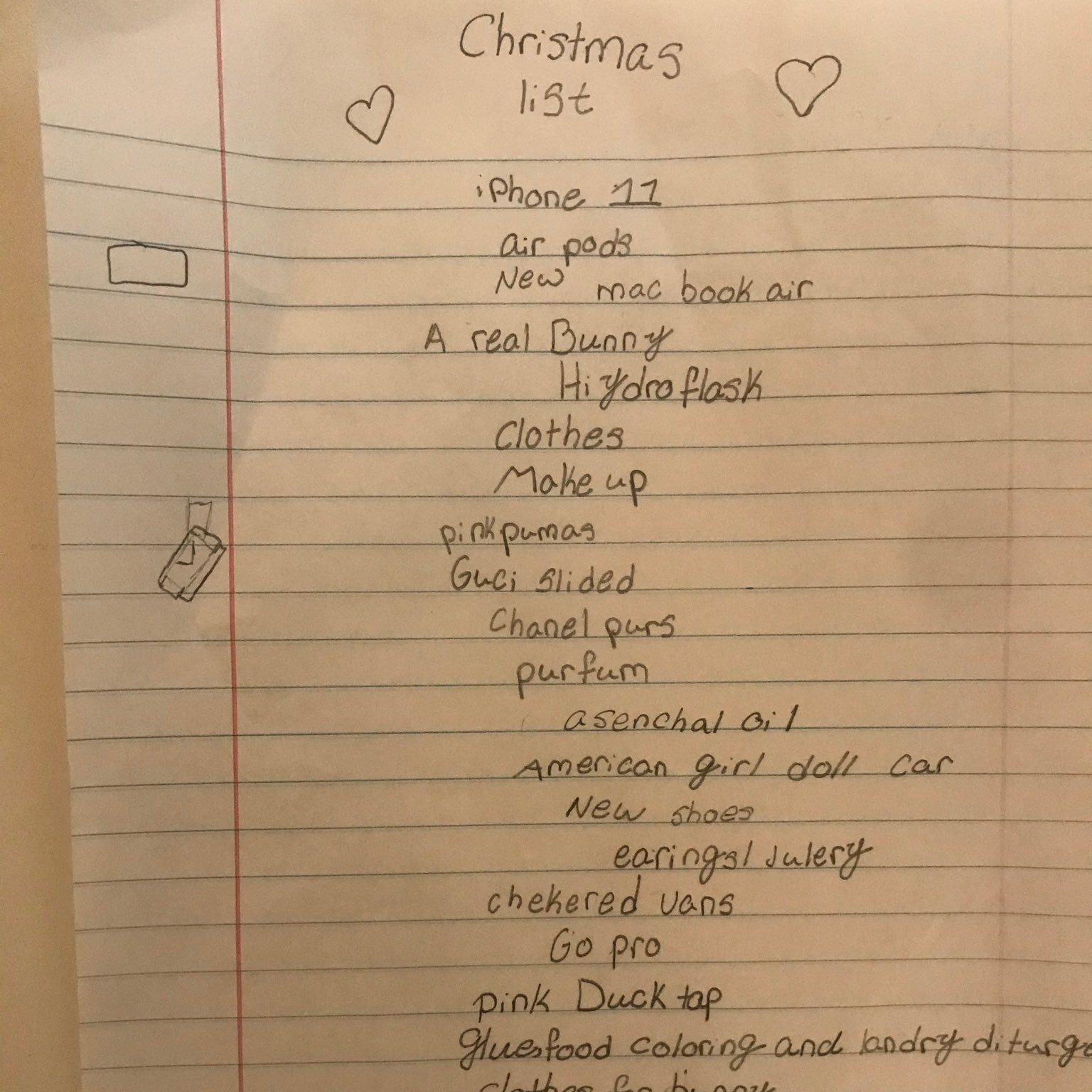 See This 10 Year Old S Ridiculously Expensive Christmas List Popsugar Family