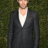 Chris Pine left a couple buttons open for the Chanel and Charles Finch dinner at Madeo.