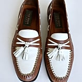 How great are these two-tone loafers? They'd look great with a pair of cuffed denim skinny jeans.
