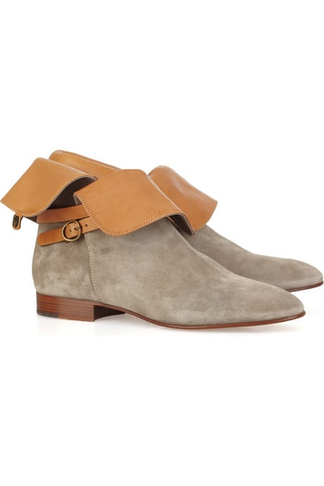 Chloé Suede and Leather Ankle Boots ($750)