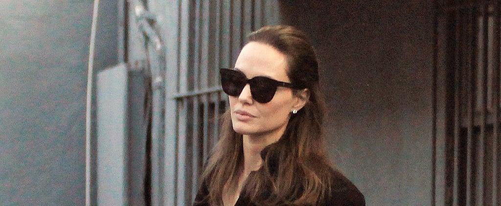 Angelina Jolie Wearing Black Flats
