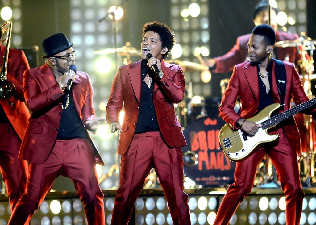 Bruno Mars sang at the Billboard Music Awards.