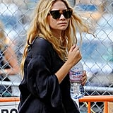 Ashley Olsen carried an Evian water in NYC.