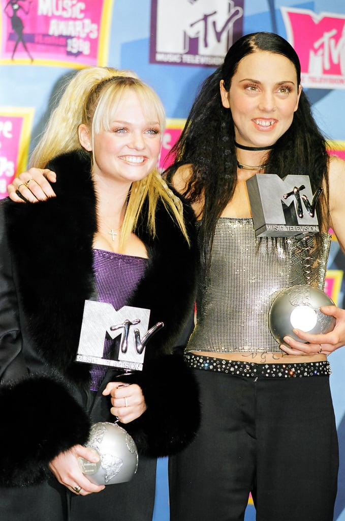 Mel C and Emma Bunton accepted their November 1998 MTV European Music Awards in Milan.