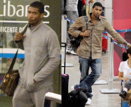 Photos of Usher Raymond Visiting Tameka Foster in the Hospital in Brazil