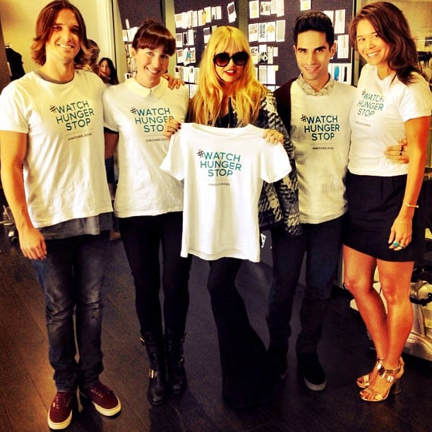 Rachel Zoe and her team raised awareness for World Food Day. Source: Instagram user rachelzoe