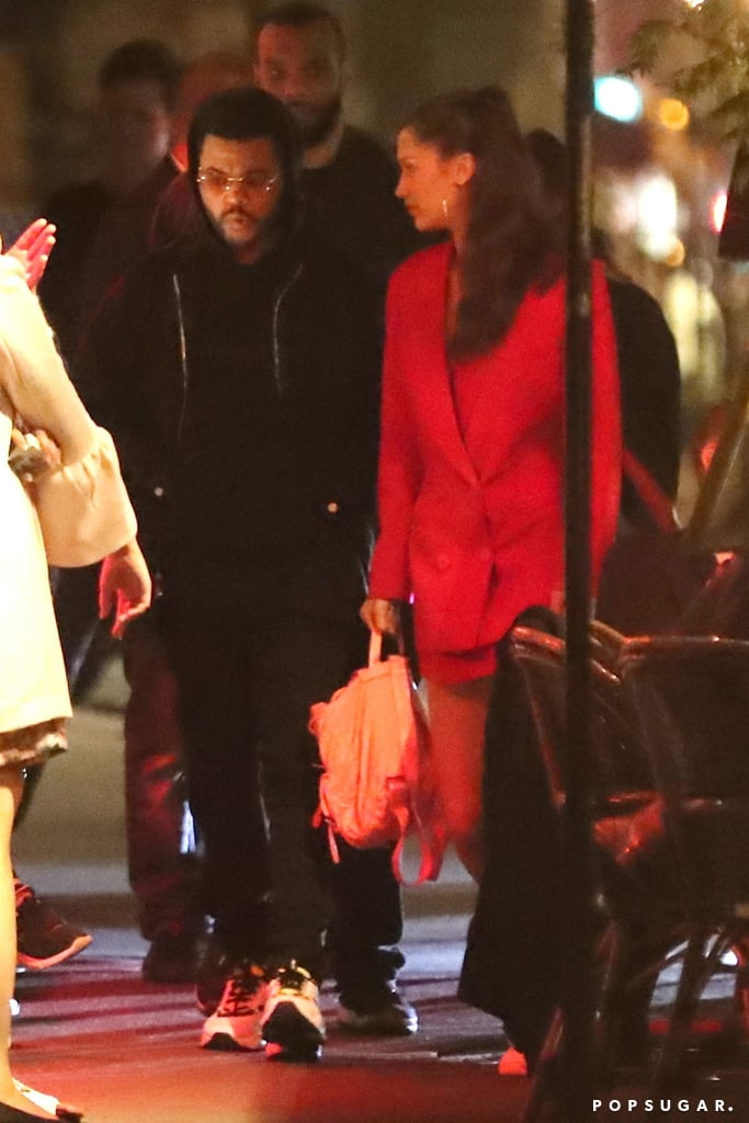 If you're looking for more proof that Bella Hadid and The Weeknd are officially back together, then their latest outing should help seal the deal. On Saturday, the couple — who've been dating on and off since 2015 — were spotted grabbing dinner with friends in Paris. Even though the pair steered clear of any PDA this time around, they clearly didn't seem to care if anyone saw them together.  Bella and The Weeknd have been generating reconciliation rumors ever since they were spotted kissing at the Cannes Film Festival in May. The pair have yet to confirm anything, but all of their recent outings and social media interactions seem to suggest that they're back on. But don't just take our word for it — see for yourself ahead.       Related:                                                                                                           On-Again, Off-Again: A Timeline of Bella Hadid and The Weeknd's Complicated Love Story