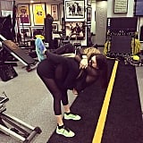 Khloé brought her little sister Kylie to work out at Gunnar Peterson's gym.