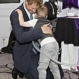 Hugging a Sick Boy