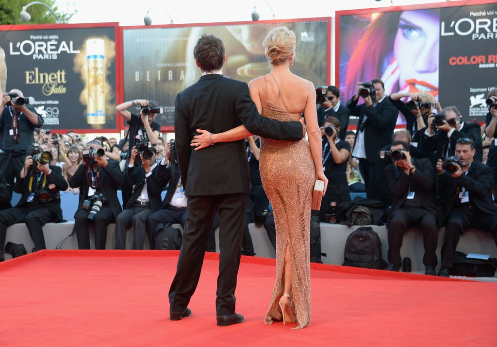 Kate Hudson and Matthew Bellamy were side by side at the Venice Film Festival premiere of The Reluctant Fundamentalist.