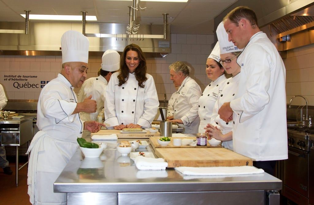 Kate Middleton and Prince William took a cooking class during their layover in Ottawa, Canada, in 2011.