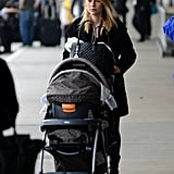 Claire Danes had Cyrus Dancy in his stroller at LAX.