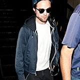 Robert Pattinson wore a New York cap.