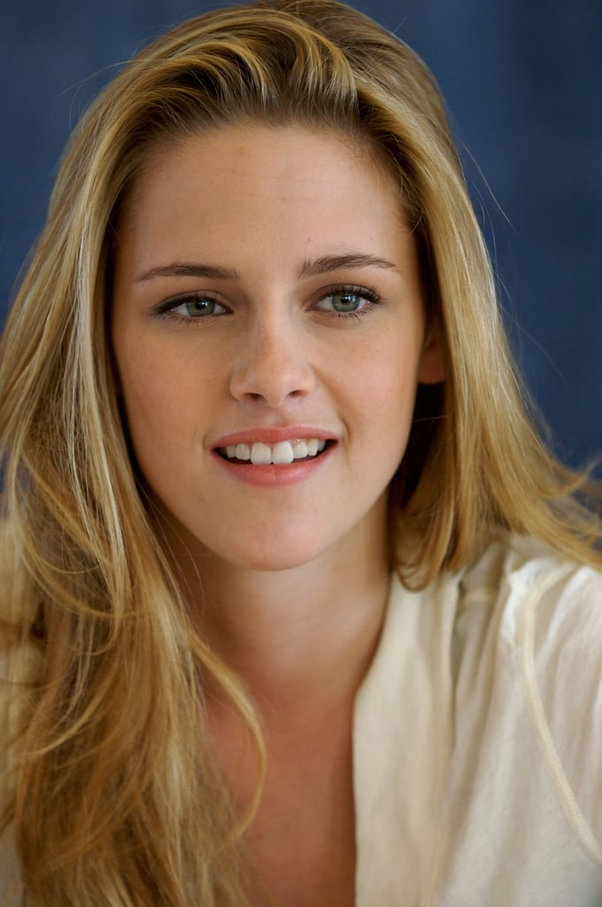 Kristen Stewart showed off her blonde hair at the Into the Wild press conference in Beverly Hills in September 2007.