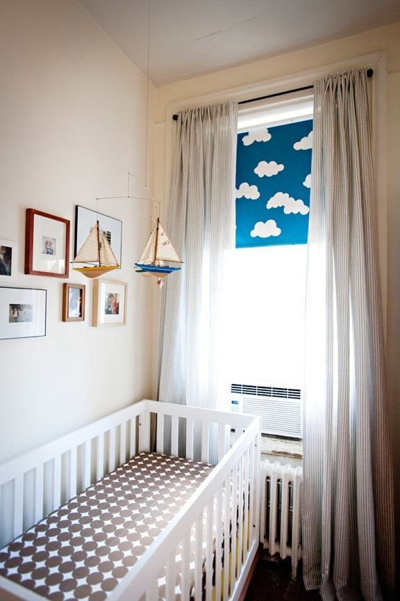 Decorating small nurseries popsugar moms - Crib for small space ideas ...