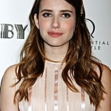 Emma Roberts's Brunette Curls in 2013
