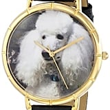 Whimsical Watches Women's Poodle Black Leather Watch ($95)