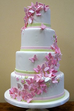 best supermarket wedding cake uk butterfly wedding cakes photo 13 11368